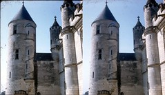 Batch E 0130 (dizzygum) Tags: vintage stereo 3d slide image france 1960 loches tower with window arrow slit