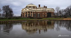 A nickle's worth of free advice (Matt Straite Photography) Tags: architecture historical history jefferson president virginia washington monticello rain refclection pond water
