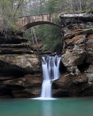 Upper Falls (MatthwJ) Tags: old mans cave hocking hills state park upper falls waterfall bridge 2019