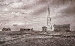 Depression at the  Bend in The Road   ..HWW! (jackalope22) Tags: hww windmill desiolation depression sepia wednesday