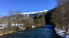 L' Isere: Perfect winter's morning (kcorrick) Tags: isere lisere river winter france tarentaise snow landscape mountains trees blue
