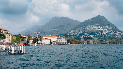 Looking across Lake Lugano