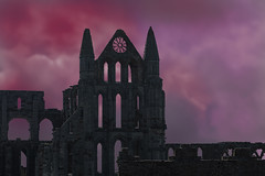 Whitby-Abbey-ominus sky (Peter Warne-Epping Forest) Tags: whitby whitbyabbey yorkshire fishingport uk peterwarne dracula bramstoker fantasy