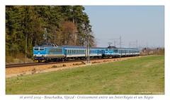 CD 362 086 + 363 054 - Újezd (CC72080) Tags: újezd 362 363 cd régional interrégio vlak osobní vlaky rychlíky locomotive lokomotive locomotiva lokomotiva train zug personenzug sbahn treno