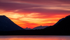 The sunset (agialopoulos) Tags: sunrise sunset sundown summer landscape landschaft lake mountain mountains germany bavaria naturallight light lila forest color natur nature nationalpark water sky clouds