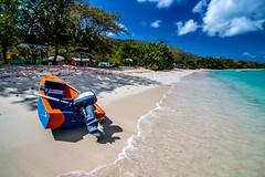 Paradise Beach-2891 (islandfella) Tags: carriacou grenada grenadines beach coast coastline coastal sea caribbean west indies travel sand paradise boatfishing island blue water cloud sky