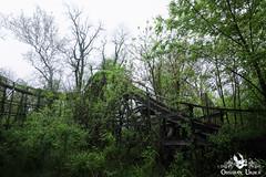 Wooden Rollercoaster, USA (ObsidianUrbex) Tags: abandoned amusement digital photography park rollercoaster urban exploration urbex