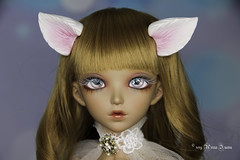White & pink wolf ears MSD (AnnaZu) Tags: wolf ears msd white pink inside minifee alicia annazu annaku doll fairyland polymer clay commission vesnushkahandmade magnetic