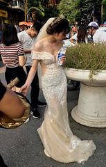 Bride to Be (cowyeow) Tags: hanoi vietnam asia asian street urban city people girl young woman pretty cute asiangirl vietnamese vietnamesegirl vietnamesewoman sexy candid hot hottie bride marriage wedding beautiful dress whitedress smile happy love