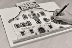 With pencil and sketch block (Ernst_P.) Tags: aut bleistift gasthofmellauner hand mellaunerhof österreich pettnau tirol zeichenblock zeichnen draw sketch dibujo dibujar lapiz sigma art 50mm f14 sw bw monochrome