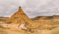 Bardenas Reales II (Daniel Meraviglia-C.) Tags: photoshop photomerge panoramic panorámica panorama landscapephotography paisaje desierto bardenasreales desert naturaleza nature naturephotography 24105 canoneos1dx sand navarra