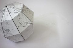 paper globe (makeandclick) Tags: paper globe diy sectional craft map geography fold