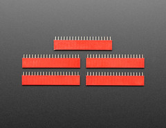 "20-pin 0.1"" Female Header - Red - 5 pack (adafruit) Tags: 20pin 20pinfemaleheaders headers red accessories electronics projects diy diyelectronics diyprojects new newproducts addons"