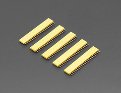 "20-pin 0.1"" Female Header - Yellow - 5 pack (adafruit) Tags: 20pinfemaleheaders femaleheaders headers yellow accessories electronics addons diy diyelectronics diyprojects projects"
