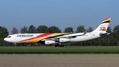OO-ABA 2019-04-24 AMS (Gert-Jan Vis) Tags: ooaba airbus a340 airbelgium schiphol polderbaan surinamairways a340300 835