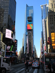 2019 Mood Lighting Number One Times Square Building 6788 (Brechtbug) Tags: 2019 mood lighting number one times square building morning with waterford crystal ball turned off its pole new york city looking south nyc broadway architecture eve holiday buildings signs year years ad electronic billboard 04242019