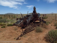 Old Machinery (Annes Travels) Tags: mounttrumbullschoolhouse arizona historical historic history arizonastrip schoolhouse fence antique sky clouds