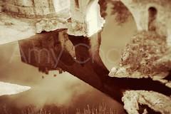 Reflejo en sepia (Amy Charlize) Tags: reflejo agua water reflection puente bridge spain españa espanya besalú pontdebesalú catalunya catalonia cataluña sepia nostalgia medievalvillage
