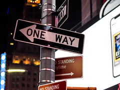 One Way (abory03) Tags: new york city trip night olympus one way usa