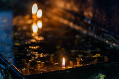 candles in a cave