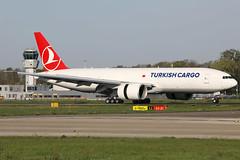 TC-LJL 22042019 (Tristar1011) Tags: ehbk mst maastrichtaachenairport maa turkish airlines turkishcargo boeing 777200f b772 tcljl cargo freighter