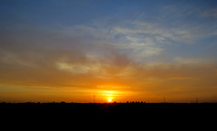 IMG_0002x (gzammarchi) Tags: italia paesaggio natura pianura campagna ravenna villanovadiravenna tramonto riflesso sole nuvola