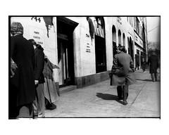 744 Paris Geneva Monte Carlo (Richard C. Johnson: AKA fishwrapcomix) Tags: nikonf nikkor35mmlens film kodakplusx analog analogue scanfromnegative filmisnotdead iusedtoshootfilm istillshootfilm blackandwhite bw monochrome shopwindow nyc street manhattan building midtown mybackpages 20thcentury 197879 archive shadows pedestrians theindecisivemoment whenfilmwasfilm andcameraswerenotappliances butmachines engineoftheworld