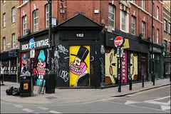Sweet Toof (Alex Ellison) Tags: sweettoof bricklane shop store shutter eastlondon urban graffiti graff boobs streetart