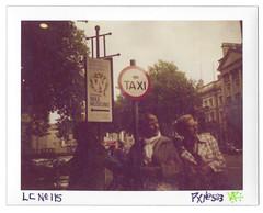 PX No. 583 (LANCEPHOTO) Tags: lc 690 dublin ireland streetphotography taxi polaroid left streetart packfilm peelapart expiredfilm landcamera picturecrossing notyetfound lostpolaroids