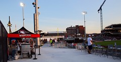 2442263393 (jalexartis) Tags: fayetteville fayettevillenc fayettevillenorthcarolina downtown downtownfayetteville segra segrastadium stadium baseball ballpark inaugralseason inaugral sunset lighting