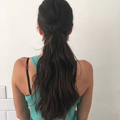 y before (morikarak) Tags: long short longhair shorthair blonde brunette curls wavyhair hairstyle makeover rapunzel shave headshave bald haircut hairs ponytail braid thickhair