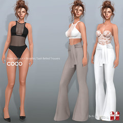 COCO New Release @Uber (cocoro Lemon) Tags: coco newrelease uber sheer bodysuit trousers secondlife fashion mesh maitreya belleza slink