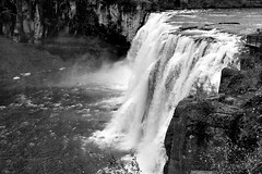 2017 Upper Mesa Falls In Monochrome 8 (DrLensCap) Tags: upper mesa falls in monochrome warm river idaho id waterfall water fall bw black and white 40 day adventure robert kramer