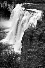 2017 Upper Mesa Falls In Monochrome 7 (DrLensCap) Tags: upper mesa falls in monochrome warm river idaho id waterfall water fall bw black and white 40 day adventure robert kramer