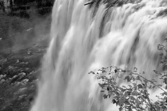 2017 Upper Mesa Falls In Monochrome (DrLensCap) Tags: upper mesa falls in monochrome warm river idaho id waterfall water fall bw black and white 40 day adventure robert kramer