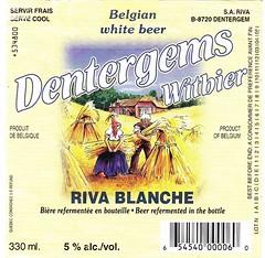 Belgium - S.A. Riva (Dentergem) (cigpack.at) Tags: belgium belgien dentergem dentergemswitbier rivablanche belgianwhitebeer sariva bier beer brauerei brewery label etikett bierflasche bieretikett flaschenetikett