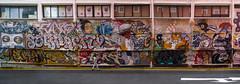 I Feel Like Someone is Watching Me (Steve Taylor (Photography)) Tags: head eyes box tiger mushroom walking graffiti mural streetart tag building window colourful woman lady singapore city asia arrow panorama