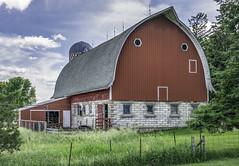 Labor Has Ceased (henryhintermeister) Tags: barns minnesota oldbarns clouds farming countryliving country sunsets storms sunrises pastures nostalgia skies outdoors seasons field hay silos dairybarns building architecture outdoor winter serene grass landscape plant cloudsstormssunsetssunrises mankatomn