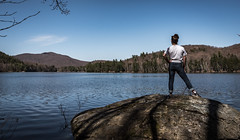 First Spring Hike (The Wandering Cameraman) Tags: spring lake water nikon nikonphotography d750 portrait landscape landscapephotography vermont silverlake portraitphotography sky mountains loon bird goldenratio thirds shadows