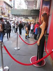Wax Angelina Jolie sidewalk display Madame Tussauds 7144 (Brechtbug) Tags: wax angelina jolie sidewalk display madame tussauds 42nd street midtown manhattan museum nyc 04252019 new york city 2019 birthday royal uk england brit britain british tussaud s mannequin mannequins dummies dummy