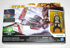 enfys nest's swoop bike and enfys nest star wars solo a star wars story vehicle and basic action figure force link 2018 hasbro misb 2a (tjparkside) Tags: enfys nests swoop bike with nest star wars han solo story vehicle vehicles basic action figure figures hasbro 2018 force link blaster sounds phrases wearable starter set 20 2018isney cloud rider gang bikes engines seats seat engine speed speeder vibrolance electroripper staff soft goods fabrice cape helmet mask bantha fur wrist fan blade blades misb