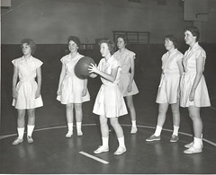 7. Basketball player getting ready to shoot the ball (St. Joseph's College McEntegart Archives) Tags: 7