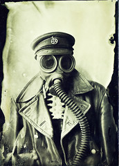 Portrait of Death (Sonofsono) Tags: apocalyptic apocalypse postapocalyptic wet plate gas mask ww1 portrait fkd collodion ambrotype