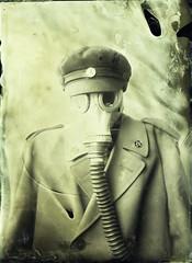 Bright sun portrait (Sonofsono) Tags: apocalyptic apocalypse postapocalyptic portrait wet plate collodion ambrotype gas mask fkd