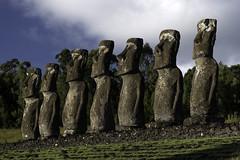 The First Seven (Michael Laudij) Tags: michaellaudij easterisland isladepascua rapanui moai headsofmoai ahuakivi legend legendary monument legacy history statue statues island southpacific pacific ocean unesco nikon d850 colour colours ahu southamerica chile polynesia heritage