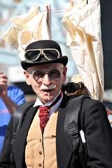 (delta23lfb) Tags: historicdockyardchatham festivalofsteamandtransport steampunk bowlerhat sunglasses