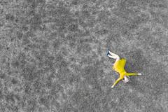 Yellow and blue (piotr_szymanek) Tags: agnieszka agnieszkal woman young skinny face portrait outdoor yellow dress meadow drone fromabove legs hand blue shoes 1k 20f 5k 50f 100f 10k bestportraitsaoi 20k 200f