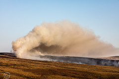 Marsden Moor fire Easter 2019 (3) (Mark Schofield @ JB Schofield) Tags: reservoir water peat moorland bog moss agriculture yorkshire huddersfield wessenden head pule buckstones scammonden royd edge valley holme colne marsden meltham digley march haigh west nab deer emley mast thenationaltrust helicopter heliliftservices fire burn douse bomb n35eh