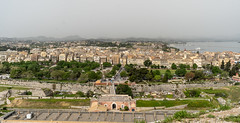 Corfu Town and Esplanade from Old Fortress (BlueVoter - thanks for 2.7M views) Tags: corfu kerkyra spianada esplanade fortress