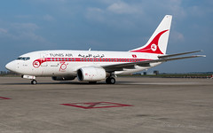 TAR_B736_TSIOP_Retro_BRU_APR2019 (Yannick VP) Tags: civil commercial passenger pax transport aircraft airplane aeroplane jet jetliner airliner tar tu tunisair boeing b737 nextgen ng b737ng 737600 b736 tsiop retro special livery colors colours paint scheme 70 years brussels airport belgium be europe eu april 2019 aviation photography planespotting airplanespotting airside platform taxi taxiway